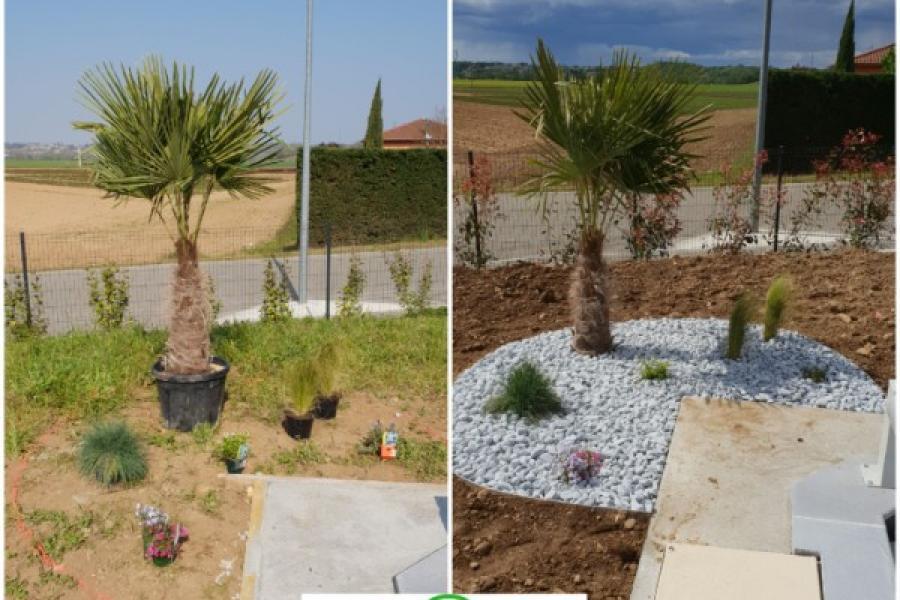 Aménagement d'un jardin